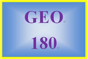 GEO 180 Week 1 An Explanation of Earth