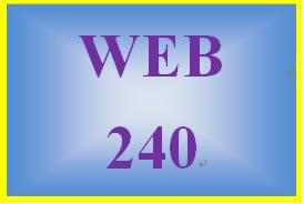 WEB 240 Week 1 Individual: Website Brainstorm