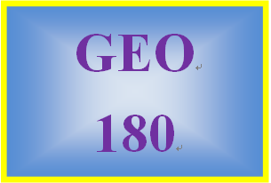 GEO 180 Week 4 Surface and Groundwater Summary