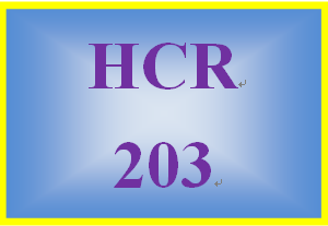HCR 203 Week 2 Claims Process Summary