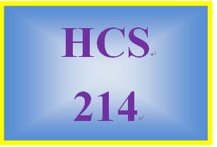 HCS 214 Entire Course