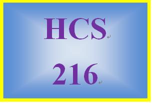 HCS 216 Week 1 Knowledge Checks- Week 1