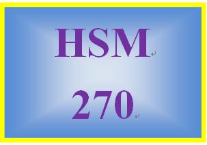 HSM 270 Week 1 Program Planning and Identifying Needs