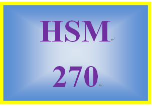 HSM 270 Week 9 Program Summary