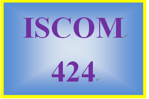 ISCOM 424 Entire Course