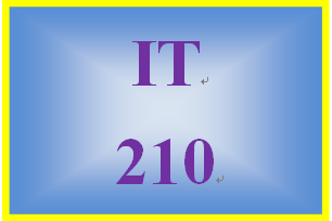 IT 210 Week 8 Checkpoint #2: object-oriented data & processes
