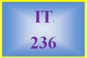 IT 236 Week 3 Toolwire ® Lab: Create a Web Page