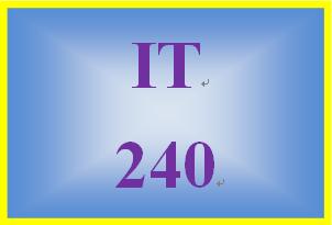IT 240 Week 9 Individual: Data Protection