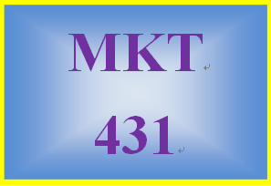 MKT 431 Week 4 Pricing Strategy Case Assignment