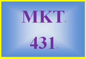 MKT 431 Week 4 LivePlan: Execution