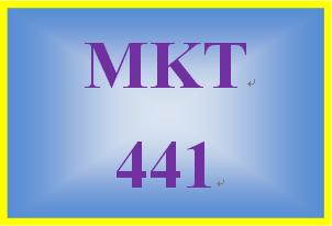 MKT 441 Week 3 Instruments with Various Measurement Scales Worksheet