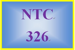NTC 326 Week 3 Complete the following MOAC Labs