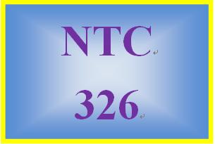 NTC 326 Week 4 Individual: Configuration Scenario