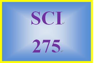 SCI 275 Week 6 Effects of Water Resources