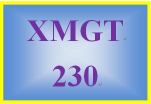 XMGT 230 Week 7 Great Job