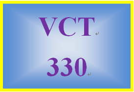 VCT 330 Week 1 Learning Team Charter