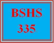 BSHS 335 Week 1 Learning Team Charter