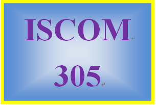 ISCOM 305 Week 3 Supply Chain Strategy and Project Plan