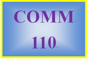 COMM 110 Week 5 Speech and Presentation Critiques