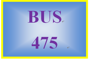 BUS 475 Week 1 Mission, Vision, and You