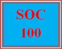 SOC 100 Week 2 Socialization and Social Structure Worksheet