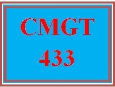 CMGT 433 Week 3 Individual: Risk, Contingency Planning, and Defensive Management