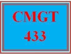 CMGT 433 Entire Course