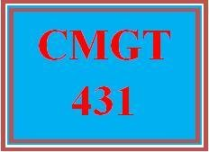 CMGT 431 Week 4 Learning Team: Change Management Plan