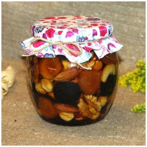 Орехи и сухофрукты (россыпью) в меду, 550 мл. (8 марта)