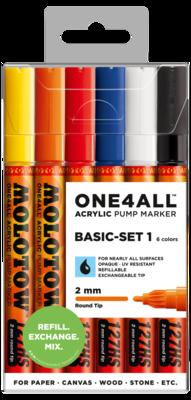 Marker Molotow Acrylic Basic Set 1 ONE4ALL 2mm