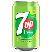 Can of 7up free 330cl