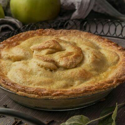 Bramley apple pie, fresh cream (1,3,9)