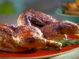 ROAST HALF CHICKEN (Sunday & BH Monday only), slow roasted chicken with fresh herb and onion stuffing, roast potato, creamed mashed potato and vegetables (1,13)