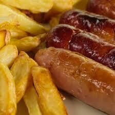 KIDS Sausage and chips (1,13)