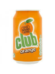 Can of Club orange 330cl