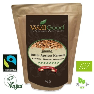 Hunza Raw Bitter Apricot Kernels Seeds Organic and Fairtrade B17