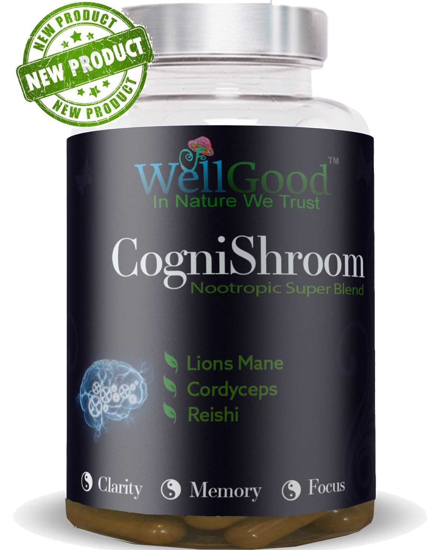 Ancient Mushroom Complex 3 Lions Mane - Cordyceps, Reishi - High Strength -  Super brain health Blend  | 6 weeks Supply | 90 vegan capsules