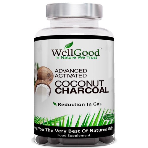 Advanced Activated Coconut Charcoal Powder Vegan Capsules additive free *IBS *Hangover help *Multi Use