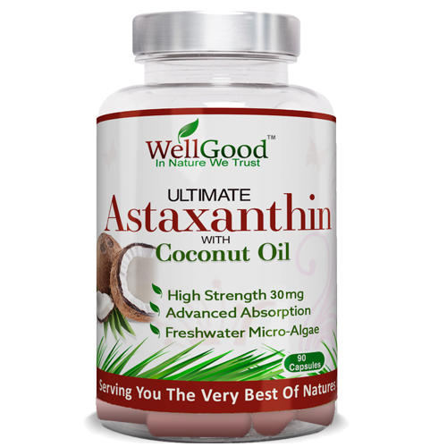 Ultimate 30mg Astaxanthin with Coconut Oil  - Nature's Best Antioxidant | 6 Week Supply