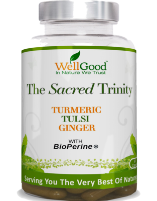 The Sacred Trinity - Turmeric (curcumin), Holy Basil/Tulsi, Ginger with black pepper extract (Piperine) Bioperine | 3 Months Supply