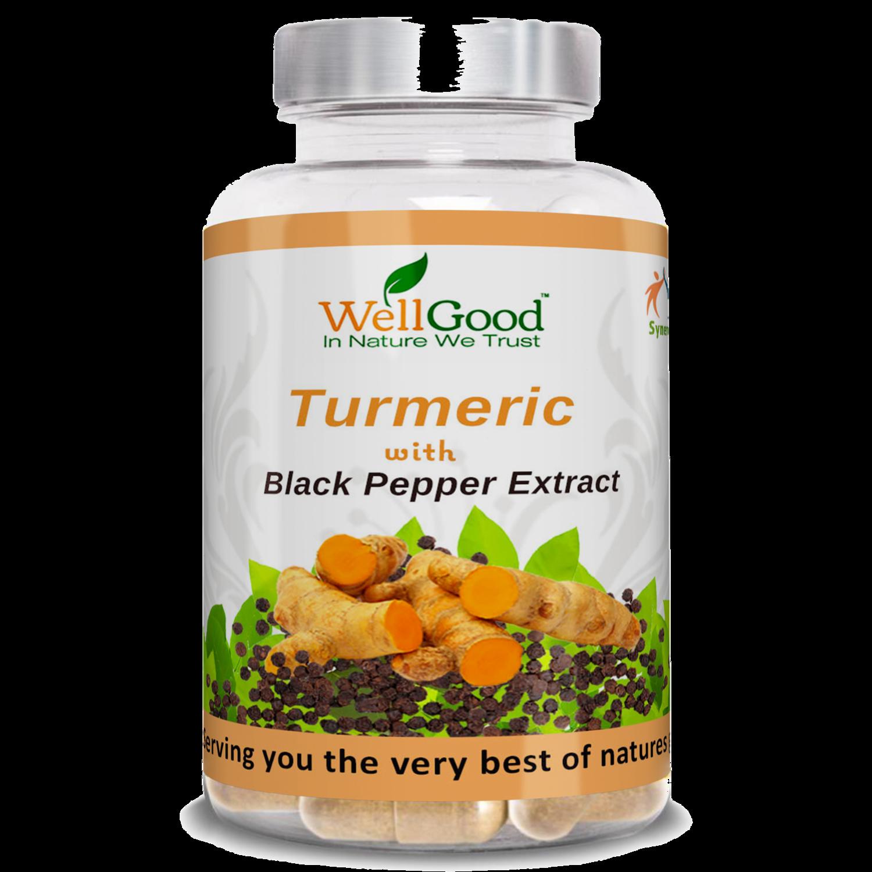 Organic Turmeric (curcumin) with black pepper extract (Piperine) Bioperine