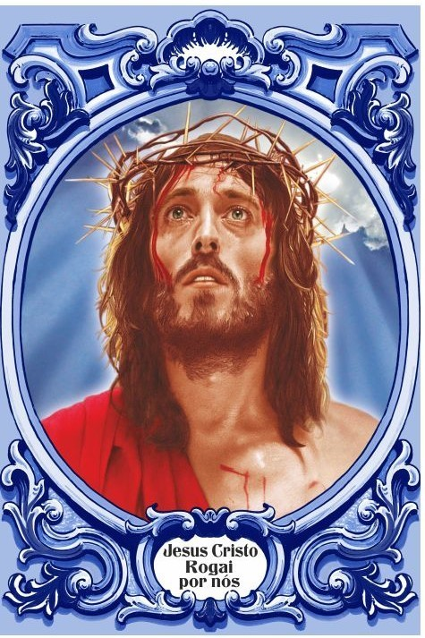 Jesus Cristo Rogai por Nós c/ cercadura oval