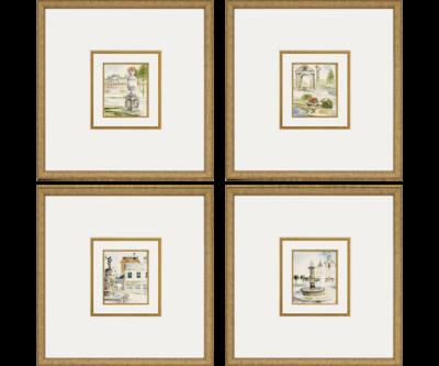 Fountains / Set of 4   Giclée