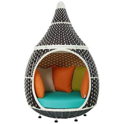 Pod Rattan Day Bed Hanging or Stationary