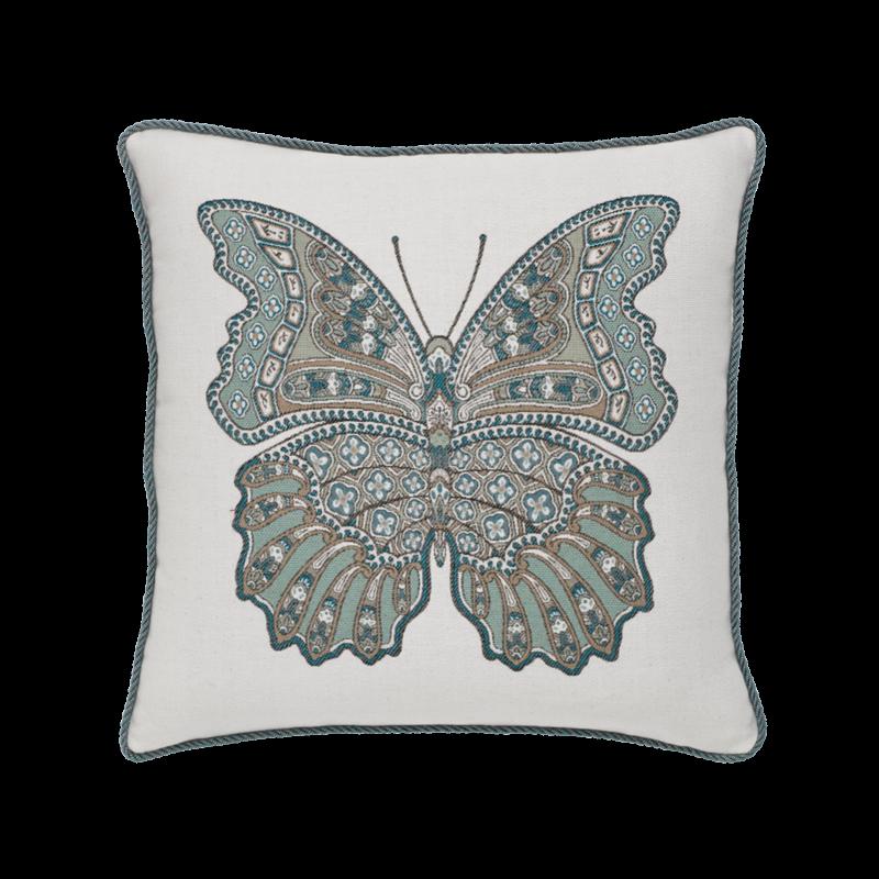 "Elaine Smith Mariposa Lagoon 20"" x 20"" Indoor/Outdoor Pillow"