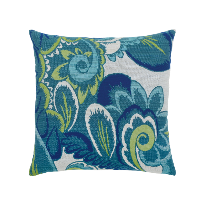 "Elaine Smith Floral Wave 20"" x 20"" Indoor/Outdoor Pillow"