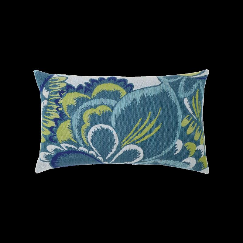 """Elaine Smith Floral Wave 12"""" x 20"""" Lumbar Pillow"""