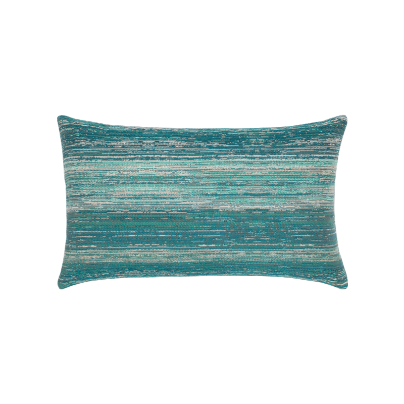 "Elaine Smith Textured Lagoon 12"" x 20"" Lumbar Pillow"