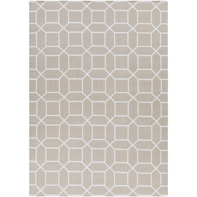 Lagoon Indoor/Outdoor Rug | 5 Sizes | Ivory and White