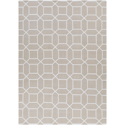 Lagoon Indoor/Outdoor Rug   5 Sizes   Ivory and White